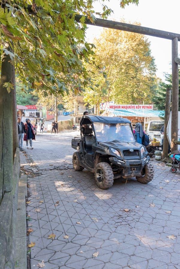 Turquía, Kocaeli, Masukiye es un destino popular para los locals y los turistas imagenes de archivo