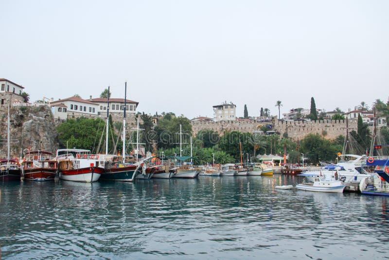 Turquía, manavgat, ciudad vieja, puerto fotos de archivo