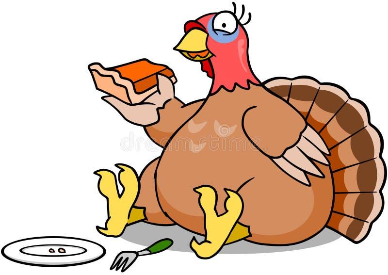 Turquía que come la empanada ilustración del vector