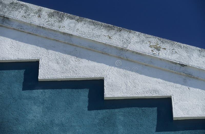 Turquesa-blanco-azul imagen de archivo