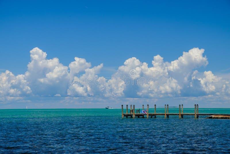 A turquesa bonita e as águas azuis do lado o da costa do golfo fotografia de stock royalty free