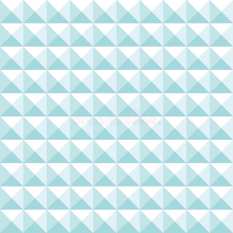 Turquesa grande recta y blanco de las pirámides del modelo inconsútil stock de ilustración
