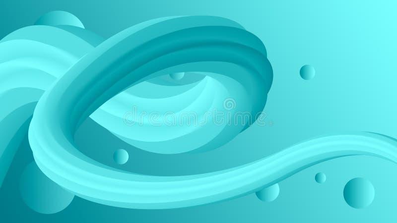 Turquesa líquida creativa de la pendiente del color de fondo  libre illustration
