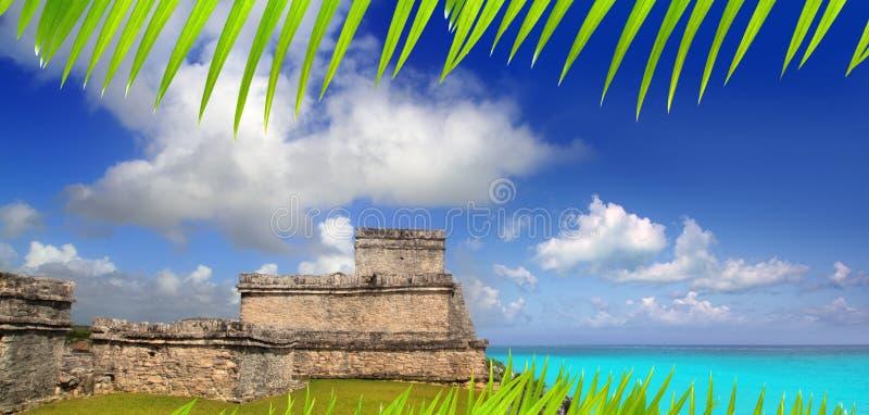 Turquesa maya antigua de Tulum el Caribe de las ruinas fotografía de archivo