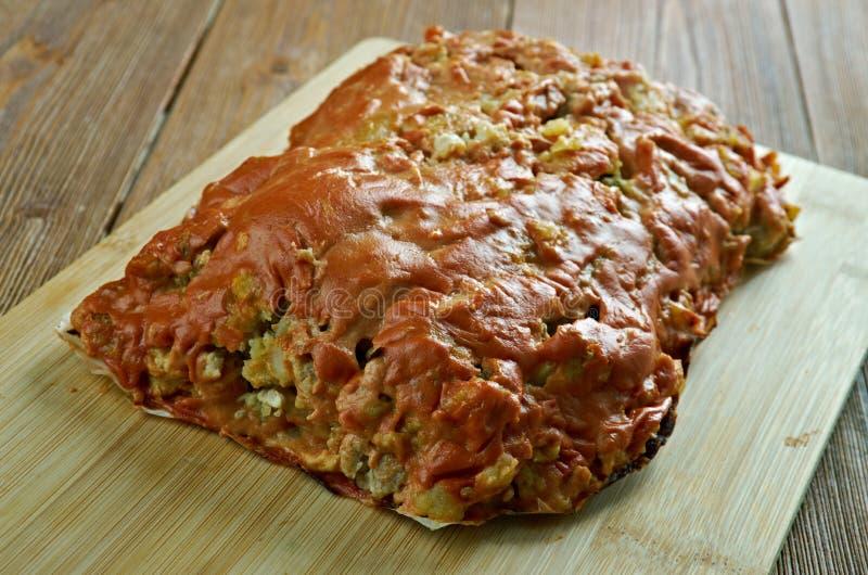 Turquia, batata, Meatloaf do abobrinha fotografia de stock royalty free