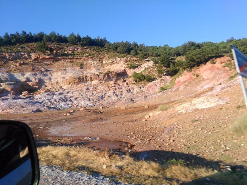 Turquia, Canakkale, minério de sal, área de Tuzla ver?o 2019 imagens de stock