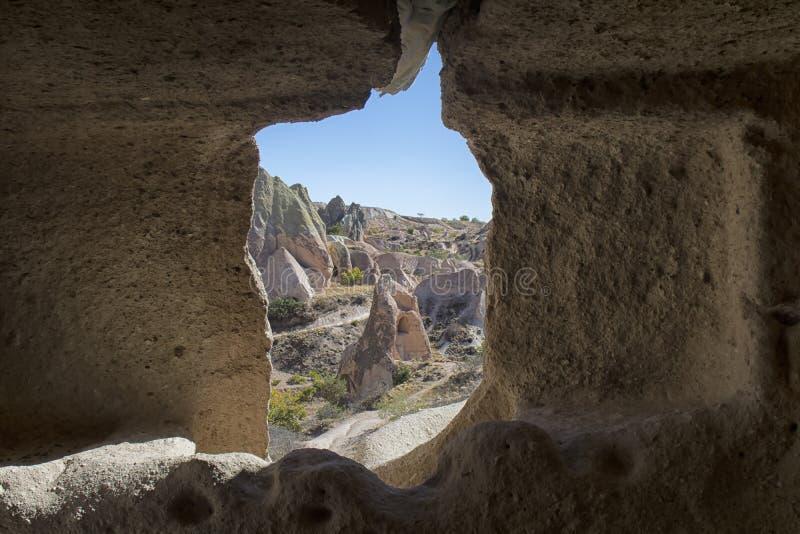Turquia, Cappadocia, rocha, paisagem, pedra foto de stock
