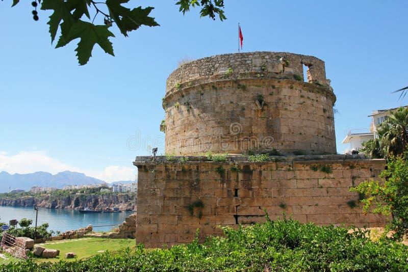 Turquia. Cidade de Antalya. Fortaleza imagens de stock royalty free