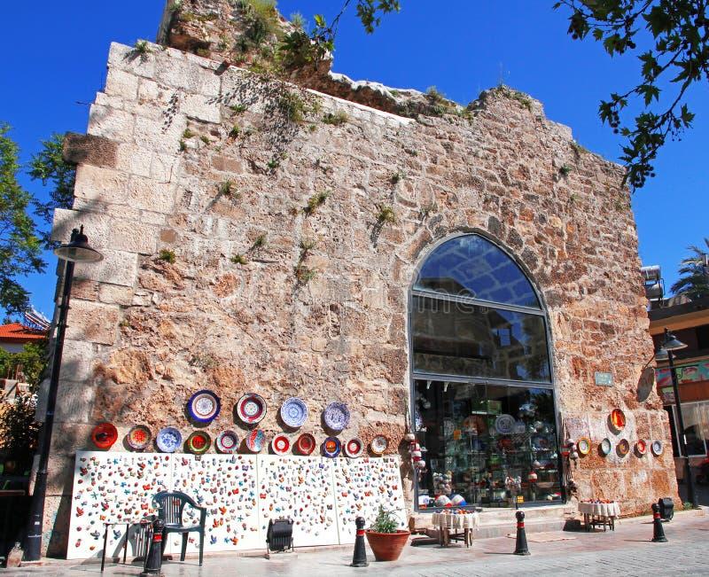 Turquia. Cidade de Antalya. Loja das lembranças foto de stock royalty free