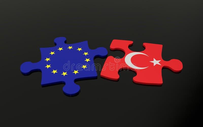 Turquia e UE ilustração stock