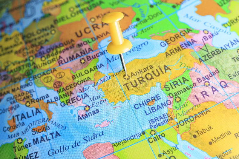 turquia mapa Turquia Fixou Em Um Mapa De Europa Imagem de Stock   Imagem de  turquia mapa