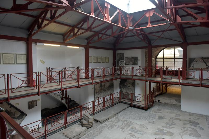 Turquia, Istambul, museu de 13,03,2018 mosaicos foto de stock