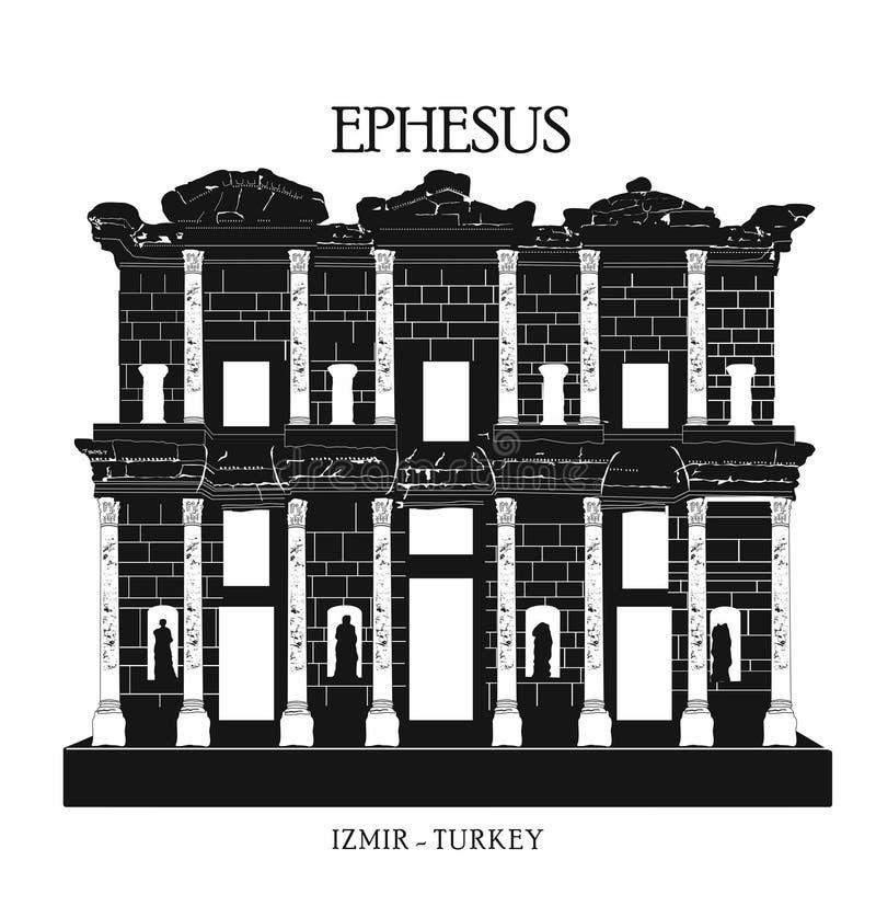 Turquia, izmir, konak Torre de pulso de disparo, marco Turquia da cidade de Izmir, ícone do curso, ilustração royalty free