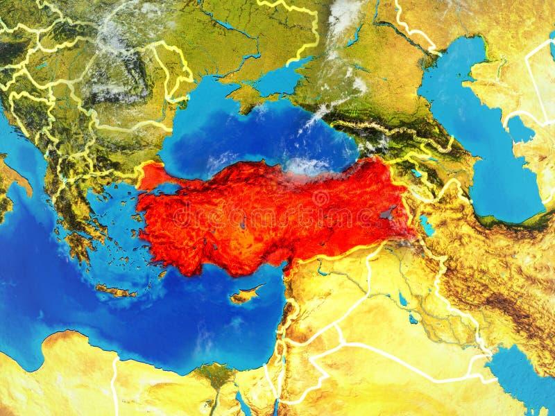Turquia na terra do espaço ilustração royalty free