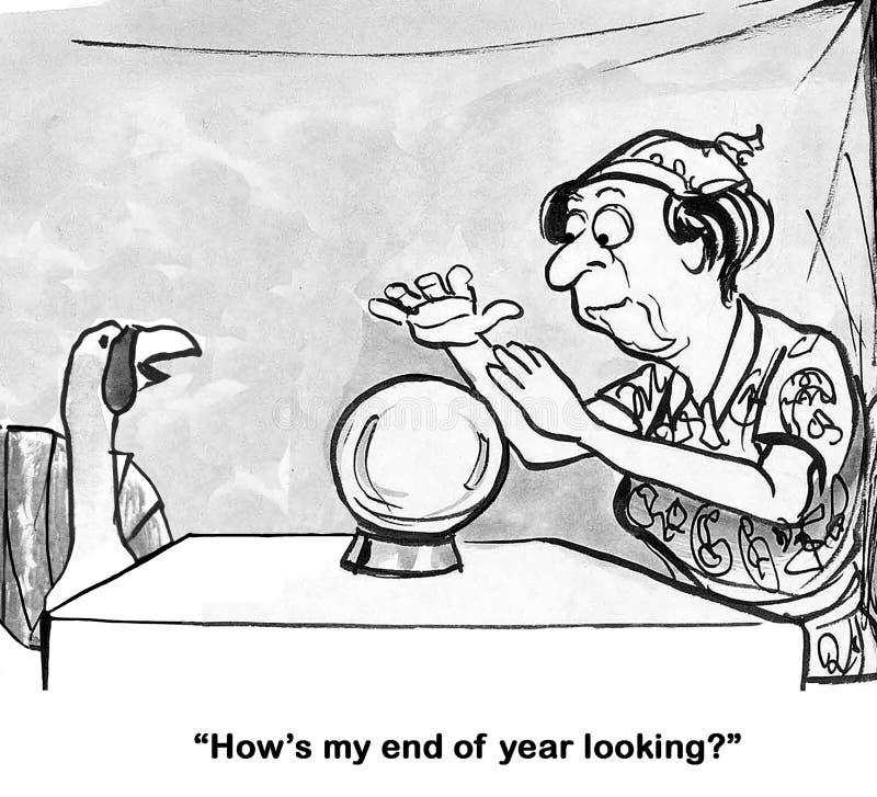Turquia previu para o fim de ano ilustração royalty free