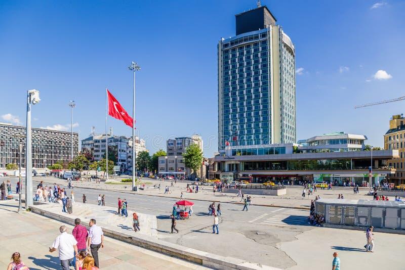 Turquia Quadrado do Taksim de Istambul da vista imagens de stock royalty free