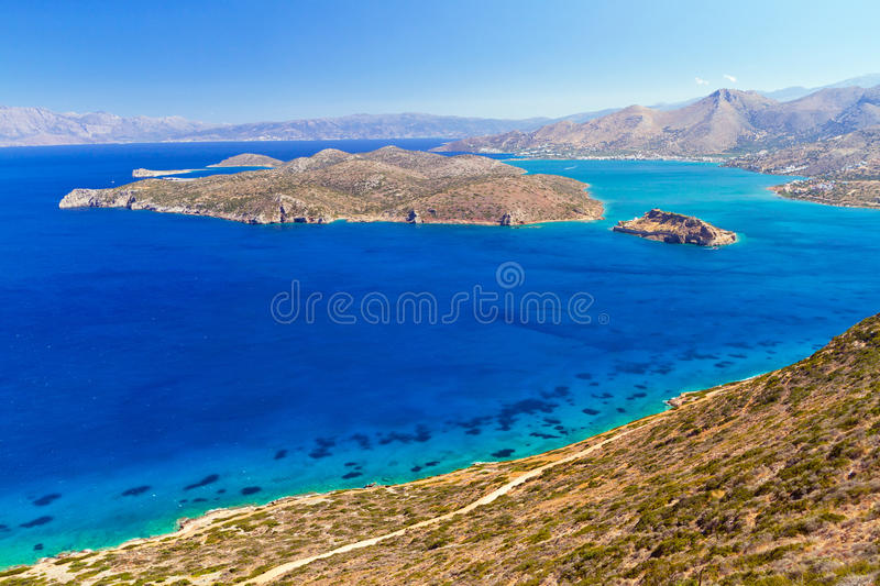 Download Turquise Water Of Mirabello Bay With Spinalonga Island Royalty Free Stock Images - Image: 28637079