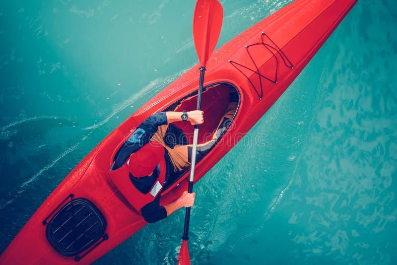 Turquoise湖皮船游览 免版税库存图片