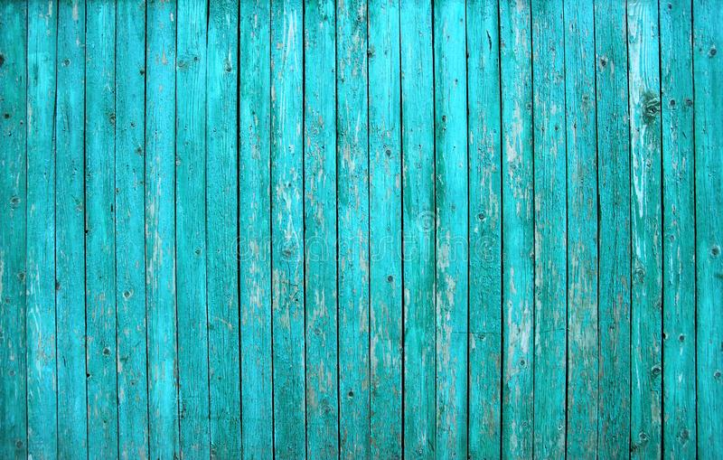 Turquoise barn painted old wooden board wall. Turquoise barn wooden board wall. Old blue planking texture. Painted grunge hardwood background surface stock photos