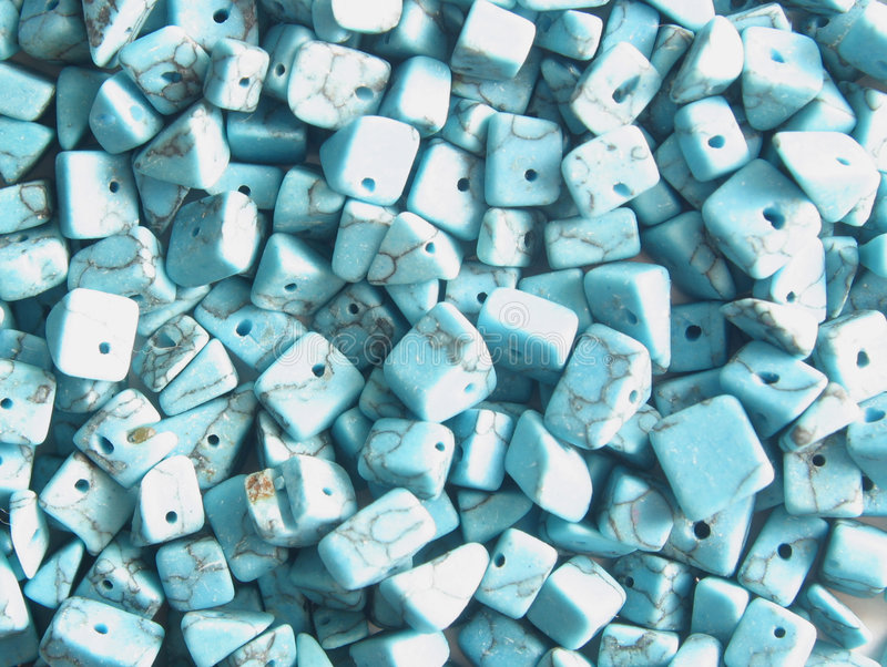 Turquoise beads royalty free stock images