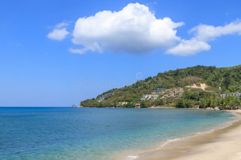Turquoise blue Andaman sea at Kamala Beach, Phuket, Thailand.  royalty free stock image