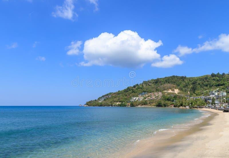 Turquoise blue Andaman sea at Kamala Beach, Phuket, Thailand.  royalty free stock photography