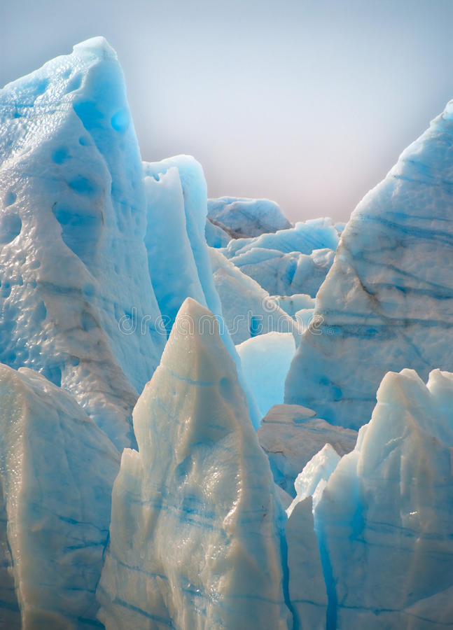 Blue Glacier, Torres del Paine, Chile stock photos