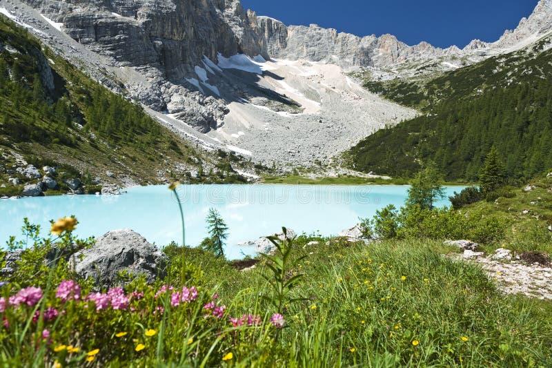 Turquoise Blue Mountain Lake Stock Photos
