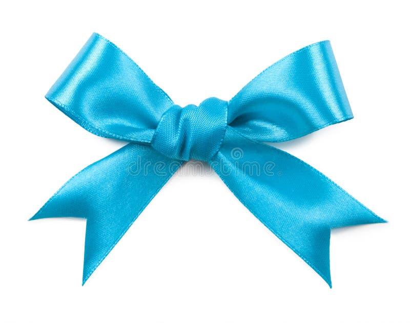 Turquoise bow isolated on white background.  stock photography