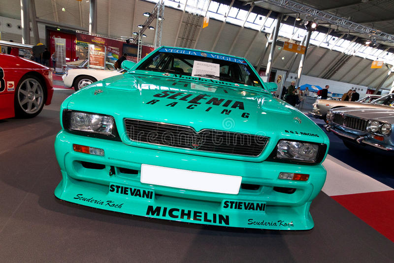 Turquoise Car stock image