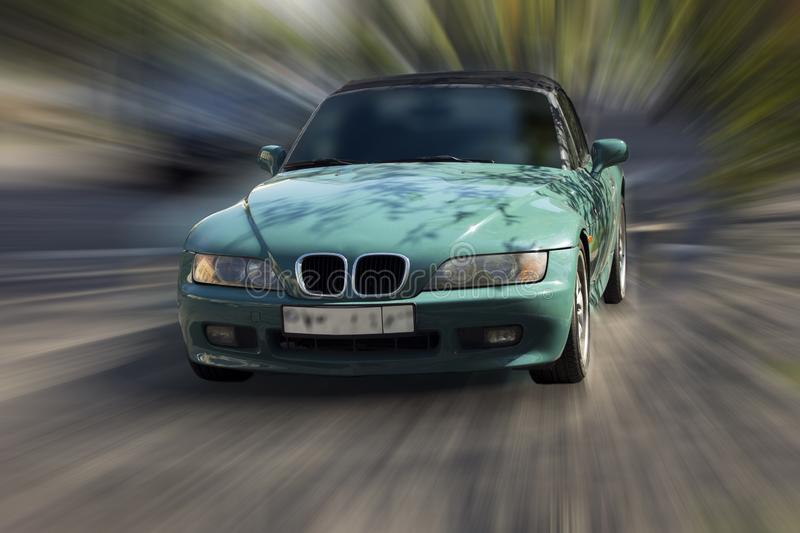 Turquoise car. royalty free stock images