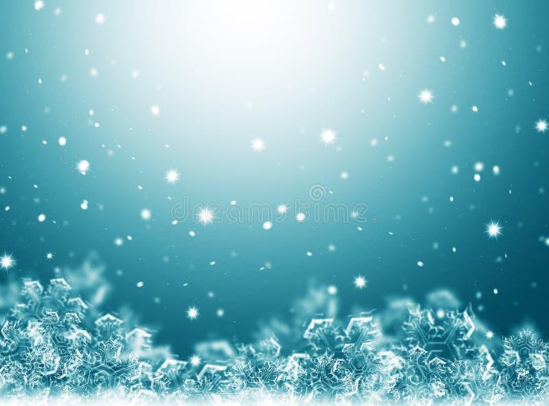 Turquoise Christmas Background .New Year Background Stock