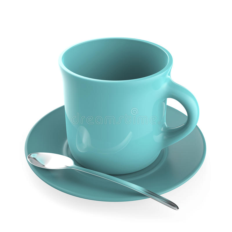 Download Turquoise coffee cup stock illustration. Image of empty - 27874829