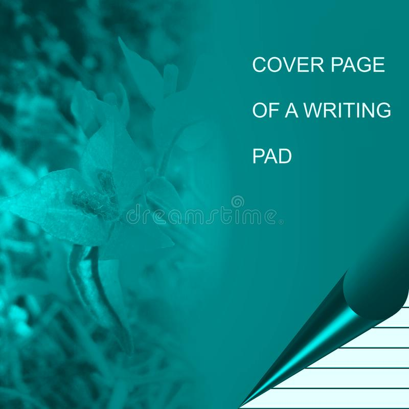 Turquoise color writing pad computer generated background image and wallpaper design. Useful for many purpose like , printing , screen savers , festivals stock illustration