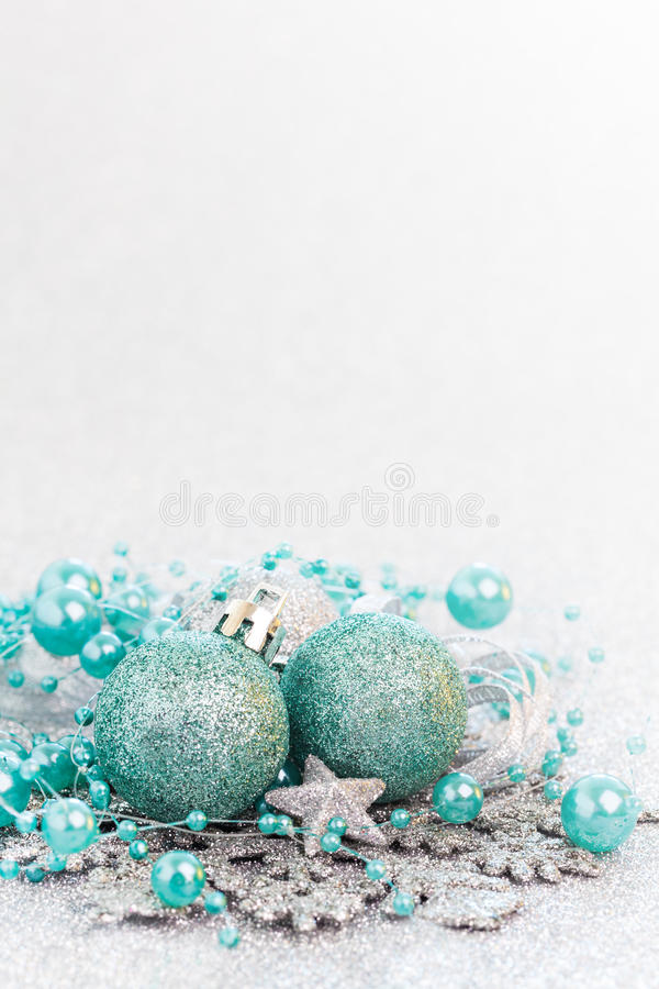 Turquoise de carte de Noël image stock