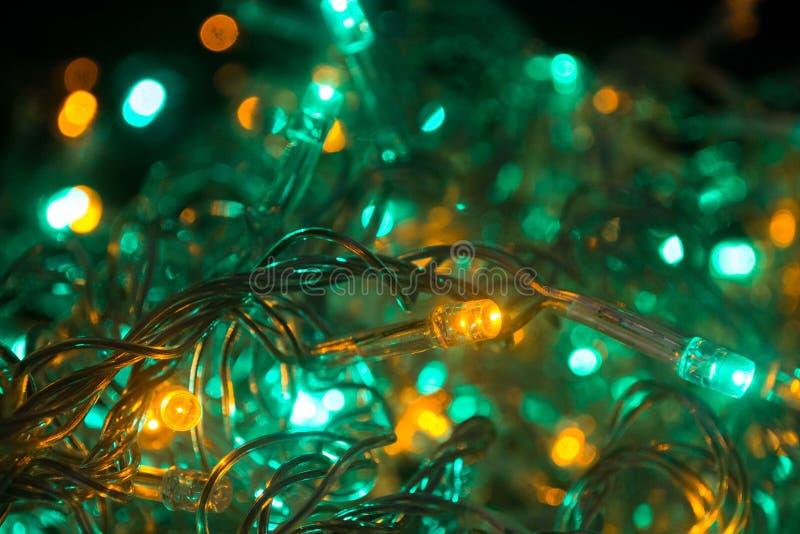 Turquoise de lumières et de couleurs de Cristmas image libre de droits