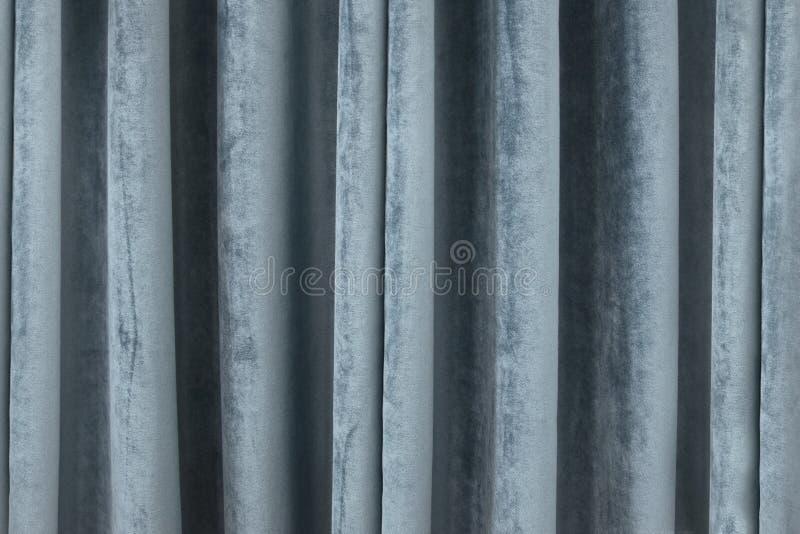 Turquoise de rideau en Velors photo libre de droits