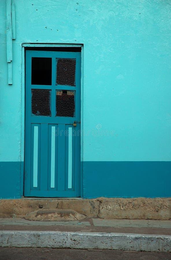 Turquoise Door royalty free stock image