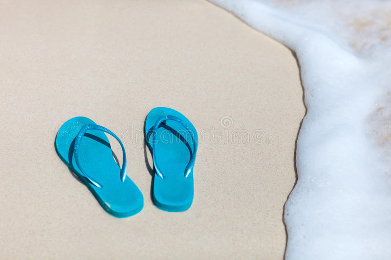 Download Flip Flops On A Tropical Beach Stock Photo - Image: 29714870