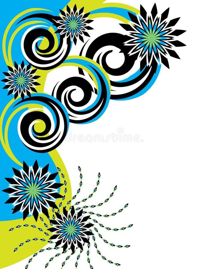 In the Turquoise Garden stock illustration