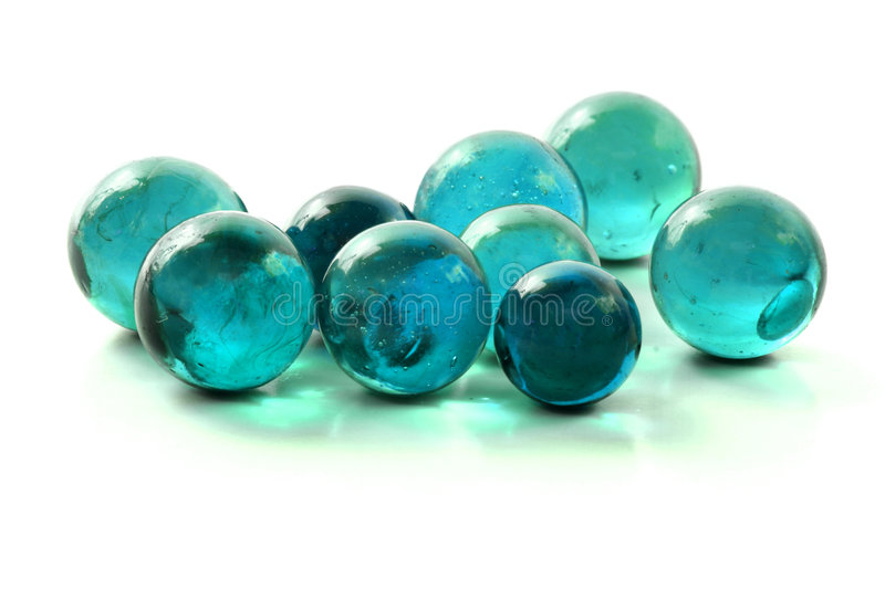 Turquoise Glass Marbles stock photography