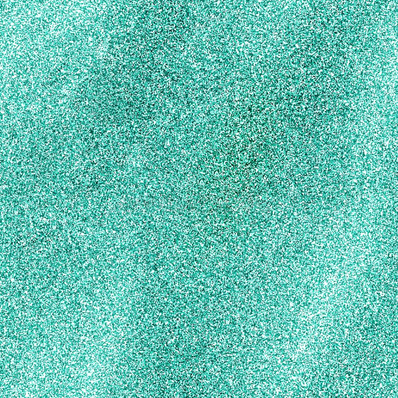 Seamless turquoise glitter texture isolated on golden background. Sparkle sequin tinsel yellow bling. Turquoise glitter texture isolated on golden background royalty free stock photo