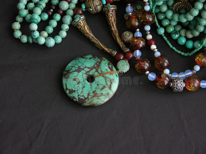 Download Turquoise Gold And Gemstones Stock Photo - Image: 22749278