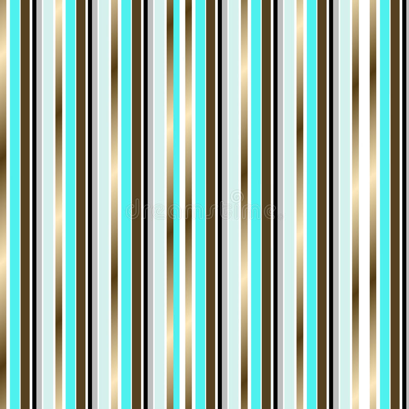 turquoise and gold stripes background stock illustration