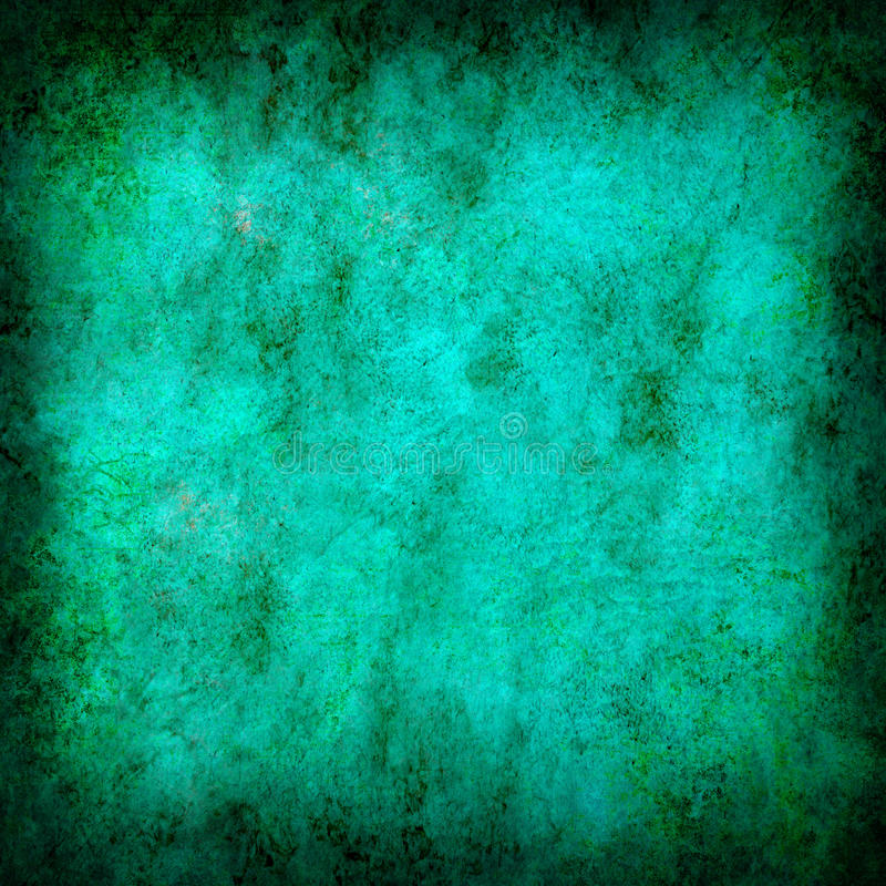 Turquoise Grunge Textured Abstract Background Stock Photo