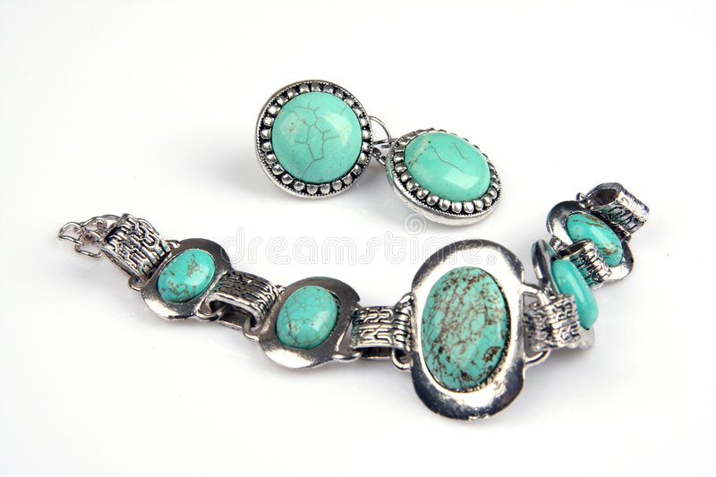 Turquoise jewelery royalty free stock images