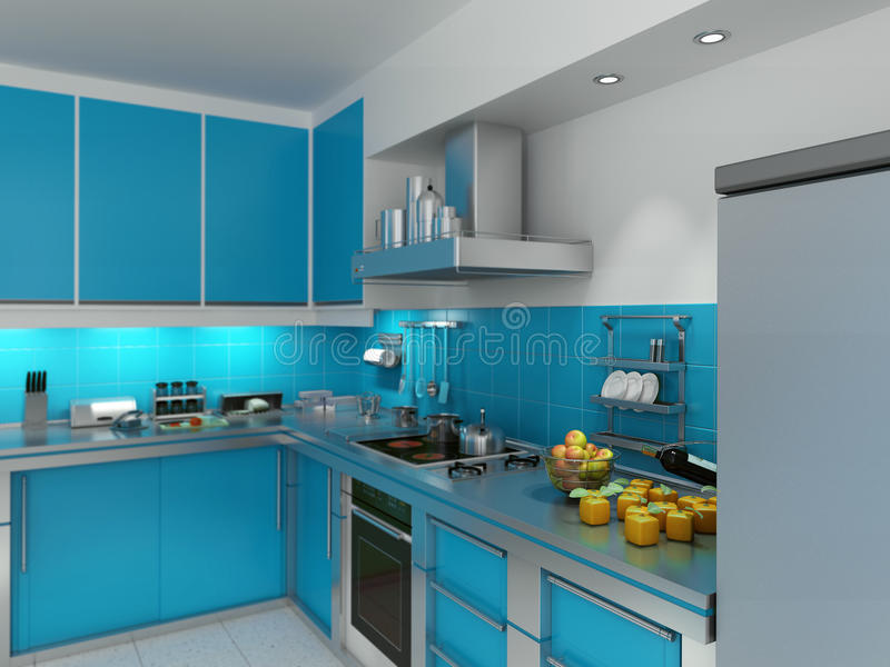 Download Turquoise Kitchen Stock Image - Image: 14659571