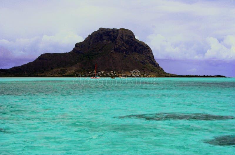 Turquoise lagoon royalty free stock image