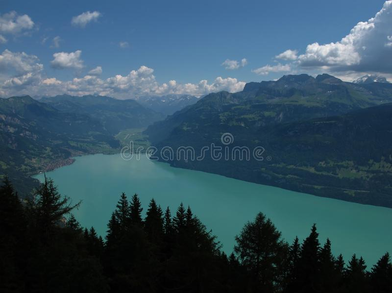 Turquoise Lake Brienzersee Stock Photos