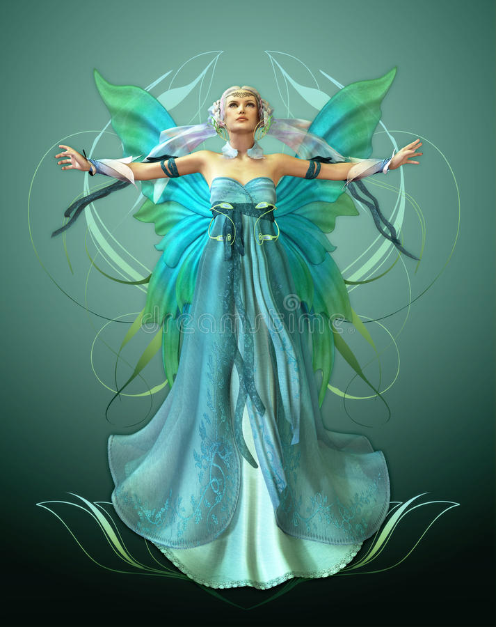 Download Turquoise Magic stock illustration. Image of dress, charmed - 24868216